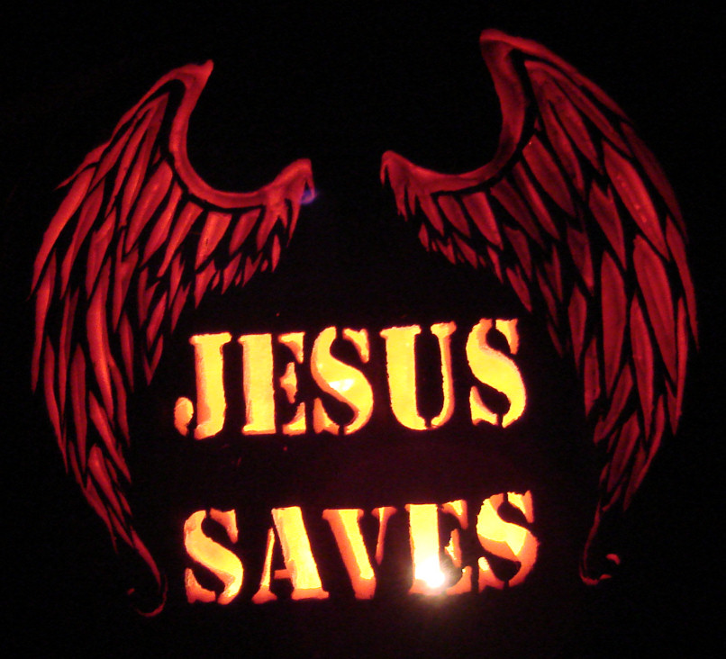 Jesus Saves [orange foam] (2010)