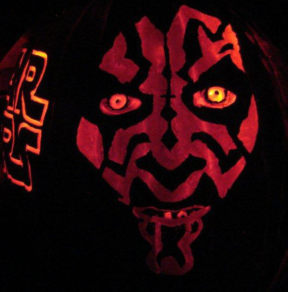 Star Wars Darth Maul (double-sided) [orange foam] (2010)